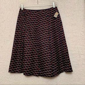 🐎NWT Talbots Equestrian Print Silk Skirt